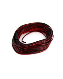 Cable 2 x 22 awg 50 pieds rouge/noir ignifuge CCA