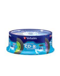 Verbatim CD-R Digital Audio de 80 minutes en tour de 25
