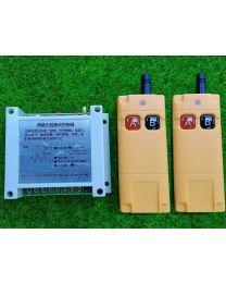 Relais 12Volts RF 433 Mhz- 2 Canaux Heavy Duty