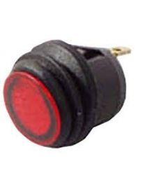 Interrupteur Rocker rond SPDT On-Off splash proof avec led rouge
