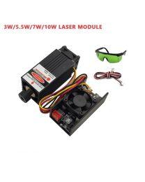 Laser 7000 mW 450nm 12V avec lunettes et câble de connexion