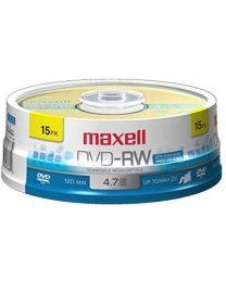 Maxell 635117 4.7 Go DVD-RW réinscriptible Axe pk15