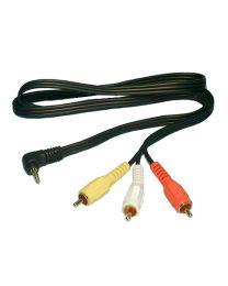 Câble audio 3.5mm mâle à 3 RCA mâle, 6 pieds (TRRS=BJGR)