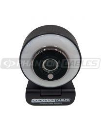 Webcam 1920 x 1080P 30 fps avec microphone et lumiere intégré