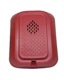 HRA avertisseur sonore d'incendie 3 tonalités (ROUGE) faible courant