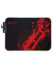 Xtrike Me Tapis de souris RGB à 3 mode d''éclairage, surface sans friction