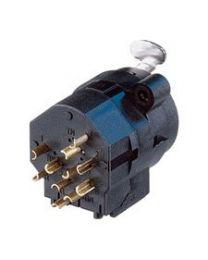 Embase combo, XLR3 et TRS femelle, normalisé, circuit imp. vertical