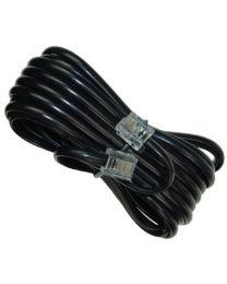 Câble téléphonique, fiche modulaire @ fiche modulaire, 15 pieds, noir