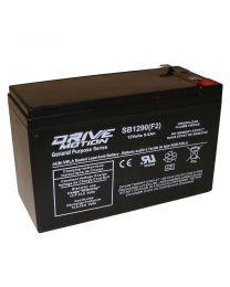 Batterie 12V 9AH ACIDE-PLOMB, 0.250''