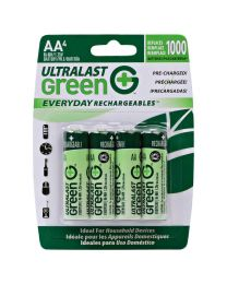 Piles AA Rechargeable (préchargée)1.25V NIMH 2100Mah pk4