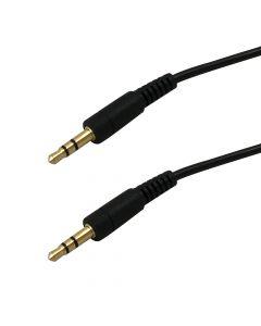 Câble audio 3.5mm stéréo mâle, 12 pieds