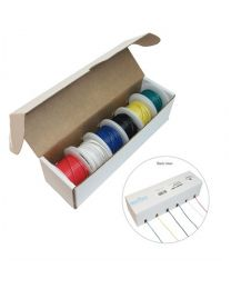 Hookup Wire Kit, Assorted - 6 Colours, 22AWG, Solid
