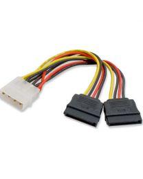 Adaptateur d'alimentation 1 X LP4 à 2 X SATA pour brancher 2 disques SATA