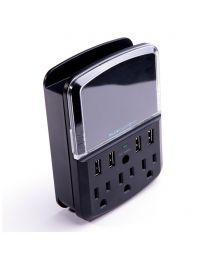 Barre d'alimentation 3 prises 4 PORT USB