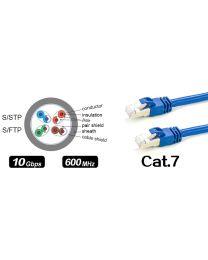 Câble réseau Cat 7 (S/STP) – bleu – 100pieds