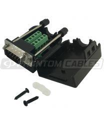Kit de connecteur de terminaison à vis DB9 mâle