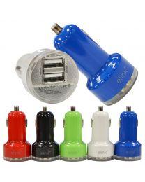 CHARGEUR USB VOITURE À DEUX PRISES; 2.1A+1A