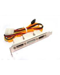 Adaptateur SATA interne à eSATA sur 'backplate' 2 ports