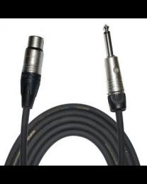 """Câble Tourflex XLR femelle à 1/4"""" mono mâle, 10'"""