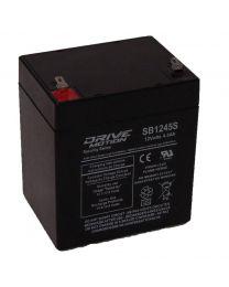 Batterie scellé à l''acide 12V 4.5a tabs 0.187' Sécurité ou Éclairage