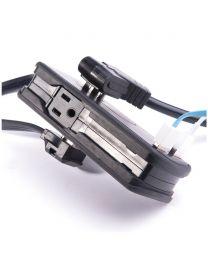 Mini barre de surtension 2 prises AC 2 prises USB 1 pied de cordon