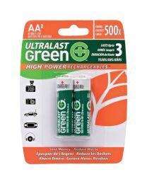 pile AA rechargeable 1.25V NIMH 2400Mah pk2