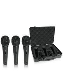 Ensemble de 3 micros dynamiques cardioïdes pour voix