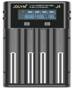 Chargeur USB pour 4 batteries 18650 26650 21700 18350 14500