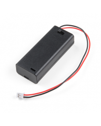 Battery Holder 2xAAA with Cover and Switch - JST Connector