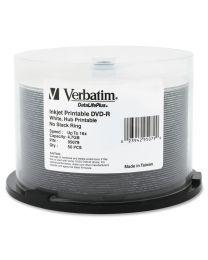 50 DVD-R 8X Imprimables à jet d''encre E2E centre imprimable