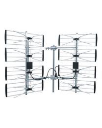 Antenne UHF HDTV 8 baie (éléments) ajustable 22 dB multidirectionel