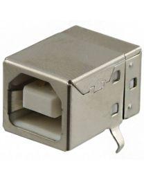 USB B femelle, simple connecteur 90°, pour ci