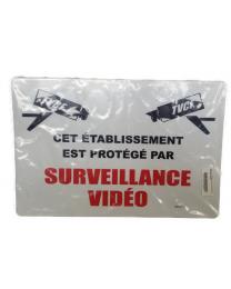 Pancarte : Cet établissement est protégé par surveillance vidéo