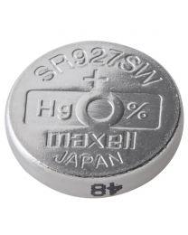 Pile de type bouton à l'oxyde d'argent, 1,55V, 55 mAh, 9,5mm (D) x 2,7mm (H)