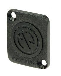 Plaque en plastique pour ouvertures de format D (noir).
