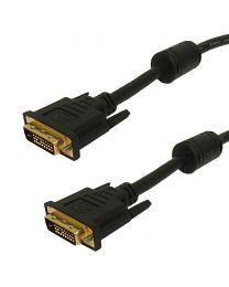 Câble DVI-D Dual-Link Mâle à Mâle de 25 Pieds Noir