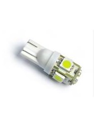 Ampoule 5 Leds bleu 5050SMD wedge T10 t3-1/4 paquet de 2 12VDC
