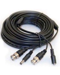 Cable Coaxial 25 pieds BNC et DC 2.1mm pour caméra de sécurité