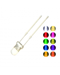 LED 3 mm CLAIR BLANC CHAUD paquet de 5