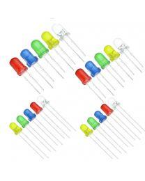 3MM 5MM Led Kit de led rouge jaune bleu vert blanc 20 de chaque