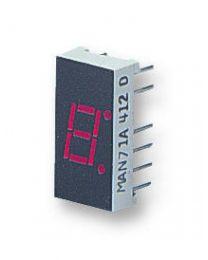 Affichage LED à 7 segments, mécaniquement robuste, rouge, 20 mA, 2,25 V,