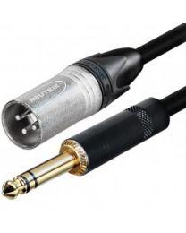 "Câble Tourflex XLR mâle à 1/4"" stéréo mâle, 10''"