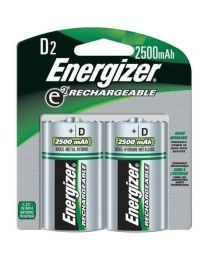 Pile rechargeables 2x D Ni-MH 1.2V 2200mAh