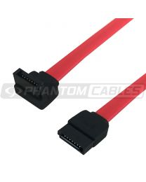 Câble Sata 19 pouces rouge avec 1 connecteur angle droit