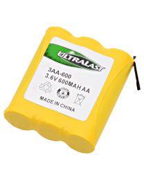Batterie de remplacement pour téléphone sans fil , Ni-Cd, 3.6 V 600mAh