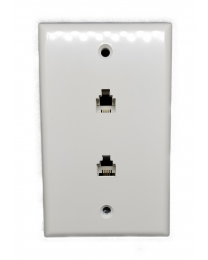 WALL PLATE TELEPHONE DOUBLE