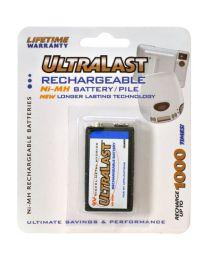 Pile rechargeable 1x 9V Ni-MH 160mAh