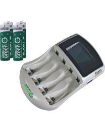 Chargeur rapide 4AA/AAA avec indicateur numérique