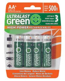 Piles AA rechargeable 1.25V NIMH 2400Mah pk4