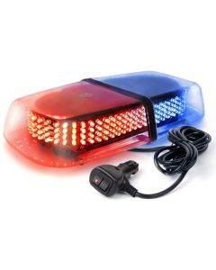 Strobe Bleu et Rouge 12 volt 240 LED magnetique pour vehicule